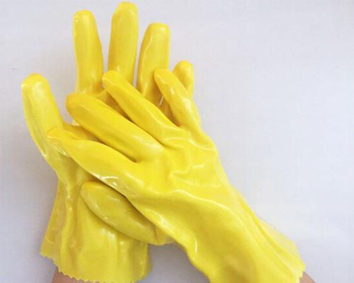 金力棉毛浸塑手套
