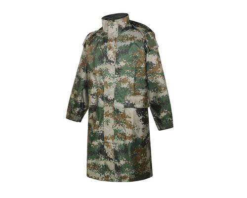 风衣式迷彩连体雨衣